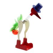 VANKER Unique Red Liquid Glass Drinking Lucky Bird Duck Bobbing Toy