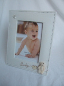 """""""Baby"""" 3D Teddy Patterned Natural Beige 5""""x7"""" (18x13cms) Photo Frame"""