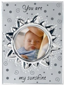 """Malden International Designs Baby Memories """"You are my Sunshine"""" Two Tone Silver Picture Frame to Hold 10cm by 10cm Photo"""