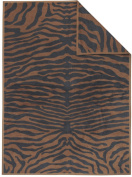 Ibena Jacquard Tablecloth & /300 Brown/Grey, 150 x 200 cm