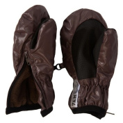 7 A.M. ENFANT Zippered Mittens, Marron Glace, X-Large
