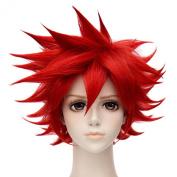 Aizen Kunitoshi Red Short Haircut Anime Cosplay Party Unisex Fashion Wigs