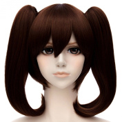 Cosplay Women Double Ponytail Full Hair Wigs Anime Party Straight Hairstyle