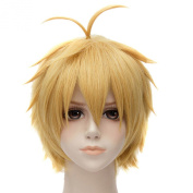 Meliodas Golden Blond Short Straight Fancy Party Cosplay Anime Full Hair Wigs