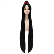 Touken Ranbu Online Black Long Full Hair Wigs Straight Cosplay Party Ponytail