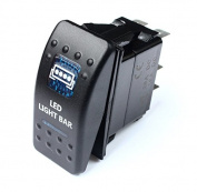 Bandc Blue LED Light BAR Lightbar Rocker Switch 4 Aurora Patrol Gu Gq 80 fits Nissan Jeep