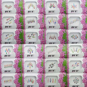 Banithani Pack Of 24 Pcs Different Multicolour Bindis Indian Temporary New Stickers Tattoos