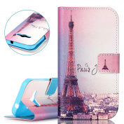 ISAKEN Book Style Cover for Samsung Galaxy Xcover 3 SM-G388F, Executive Wallet Case Made From PU Leather with Credit Card Holder slots Samsung Galaxy Xcover 3 SM-G388F Luxury Elegant Case with Reversible Printing Drawing Design Pattern Magnetic Flip Pr ..
