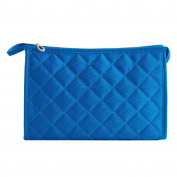 Bluelans® Woman Cosmetic Tool Nylon Gridding Rectangle Makeup Pouch/Bag/Case with Zipper Closure