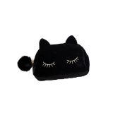 SelfTek Protable Cute Cartoon Cat Cosmetic Makeup Storage Bag Toiletry Wash Case