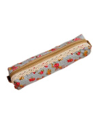 SAMGU Girls Polka Dot Flower Lace Floral Pencil Case Pen Bag Purse Cosmetic Makeup Pouch Bag Colour Green