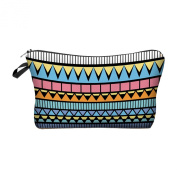 Travel Cosmetics Makeup Toiletry Bags Ladies Womens Beauty Holder Wash Handbag Storage Carry Case Portable Box Gift Strips Colourful