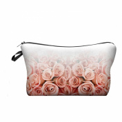 Travel Cosmetics Makeup Toiletry Bags Ladies Womens Beauty Holder Wash Handbag Storage Carry Case Portable Box Gift Ombre Roses