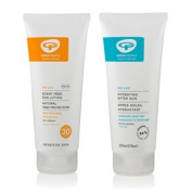 Green People Natural Fragrance Free SPF30 Sun Lotion & Hydrating After Sun Set