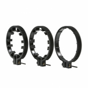 Movo FR3 Adjustable 3-Piece Follow Focus Ring Gear Set - Includes 65mm, 75mm and 85mm Lens Rings
