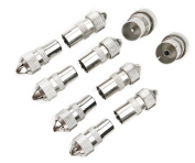 10pcs (5 x Male, 5 x Female)TV Aerial Coaxial Cable Connectors Adaptor