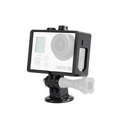 Movo Photo GC34 Rugged Protective Housing Cage with Tripod Mount for GoPro HERO3, HERO3+ and HERO4 Action Camcorders