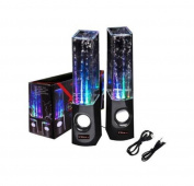 Ultra Black Dancing Water Speakers USB Powered Dancing Fountain Speakers for PC/Mac/MP3 Players/Mobile Phones/Tablets available in Black
