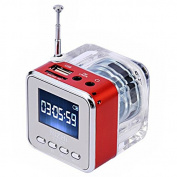 Foxnovo Mini Digital Speaker Music Player with FM Alarm Clock TF Slot USB Audio-in for Cellphone PC TT-029