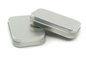 2 Magnetic Small Tin Rectangular with and Logbook Micro Nano Sticker