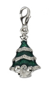Charm Tree Pendant Cubic Zirconia from 925 silver