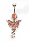 Body jewellery Belly Button ring Navel jewellery Butterfly Belly Ring