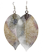 Geralin Gioielli Ladies Silver Leaf Earrings Vintage Drop Earrings