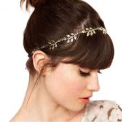 JoJo & Lin Gold Tone Leaves Headband Hair Accessories