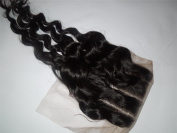 3 Way Part 4*4 Lace Top Closure 25cm Indian Virgin Remy Hair Deep Wave Expedited Shipping 1-3days By UPS