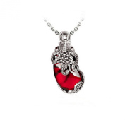 Jade Angel Thai Sterling Silver Created Garnet Marcasite Pendant Necklace