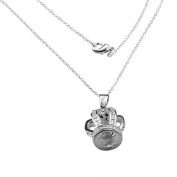 Silver Plated Crown Pendant Necklace Princess Queen
