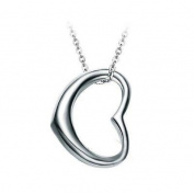 Silver Plated Heart Pendant Necklace Love Friendship