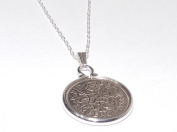 Cinch Pendant 1966 Lucky sixpence 50th Birthday plus a Sterling Silver 46cm Chain