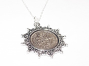 Star Pendant 1956 Lucky sixpence 60th Birthday plus a Sterling Silver 46cm Chain