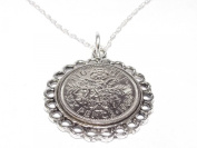 Fine Pendant 1966 Lucky sixpence 50th Birthday plus a Sterling Silver 46cm Chain