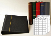 Prophila coin album with 4 Cases for 110 coins red