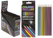 Colour Therapy Anti Stress Metallic Colouring Pencil - 10 Piece