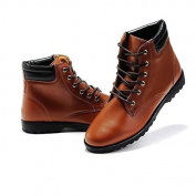 Hello 999 Pu Leather Boots Male Casual Pointed Toe Comfortable Boots.