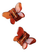 2 Tort Butterfly Small Plastic Hair Clamps IN4907