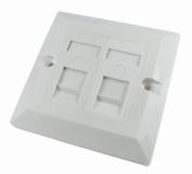 2 Port Single Socket RJ45 Network Cat 5e FacePlate Ethernet Wall Plate