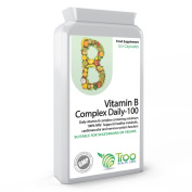 Vitamin B Complex Daily-100 120 Capsules - Minimum 100% NRV In 1 Daily Supplement - UK Made GMP Guaranteed Quality