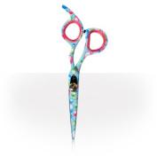 Hairdressing Scissors 14cm Multicoloured Bubble Print Offset Hairdressers Scissors Professional Hair Salon Equipment