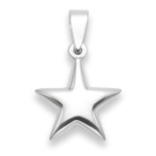 Sterling Silver Star Pendant - SIZE