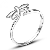 Rarelove Sterling Silver Cute Dragonfly Adjustable ring