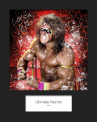 THE ULTIMATE WARRIOR WWE #1 Signed Mounted Photo 10x8 Mounted Print