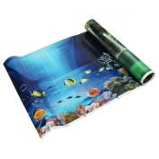 Sonline Blue Fresh Sea Background Aquarium Ocean Landscape Poster Fish Tank Background