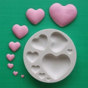 Plain Hearts - Silicone Icing Moulds for Cake and Cupcake Decoration