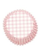 Pink Gingham Baking Cupcake Cases - for Baby Shower Cupcakes
