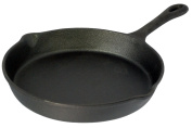Buckingham 27 cm Pre-Seasoned Cast Iron Frying Pan/Skillet for Healthy Cooking, Black
