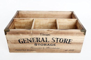 Rustic Wooden Country Chic General Store Design Storage Crate. Kitchen Home Crafts.